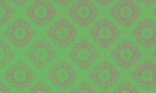 étiquette damas vert brun