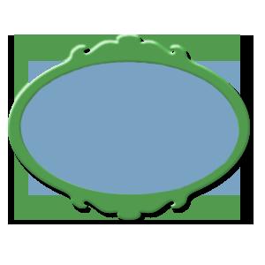 étiquette vert bleue