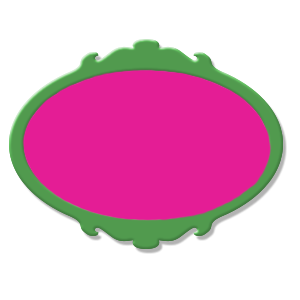 étiquette vert fushia