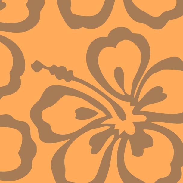 fleur brune sur fond orange