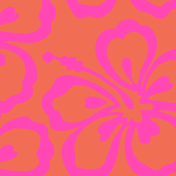 fleur fushia fond corail