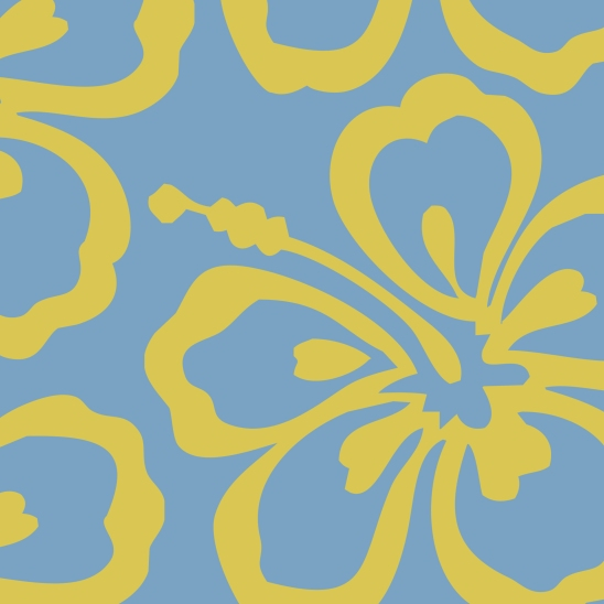 fleur jaune sur fond bleu