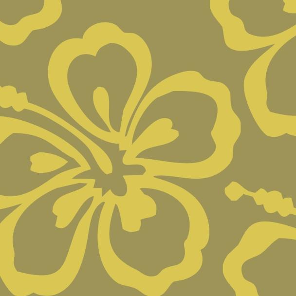 fleur jaune sur fond vert