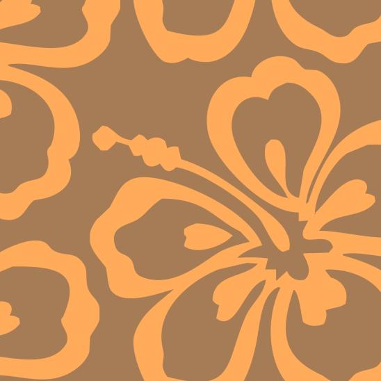 fleur orange sur fond brun