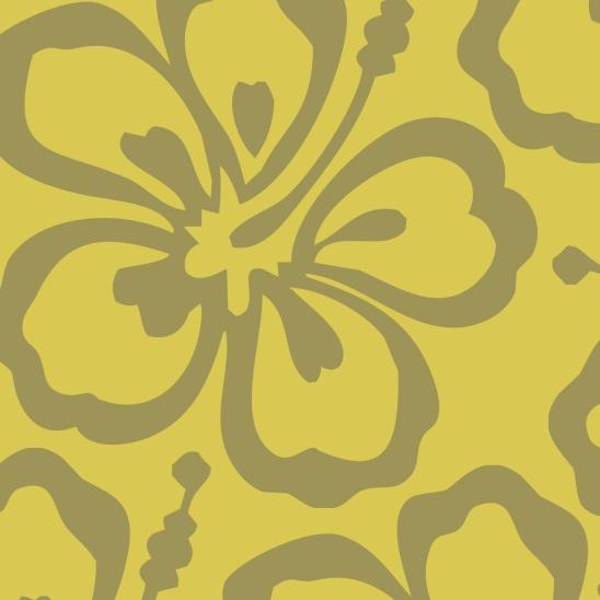fleur verte sur fond jaune