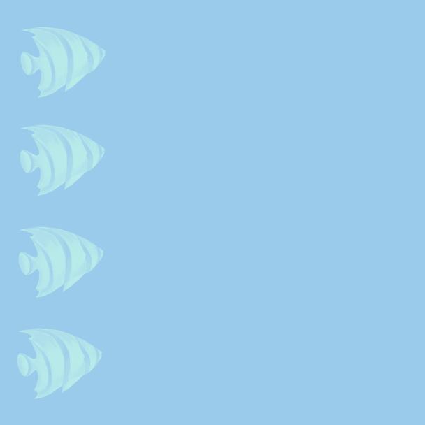 poisson turquoise-bleu