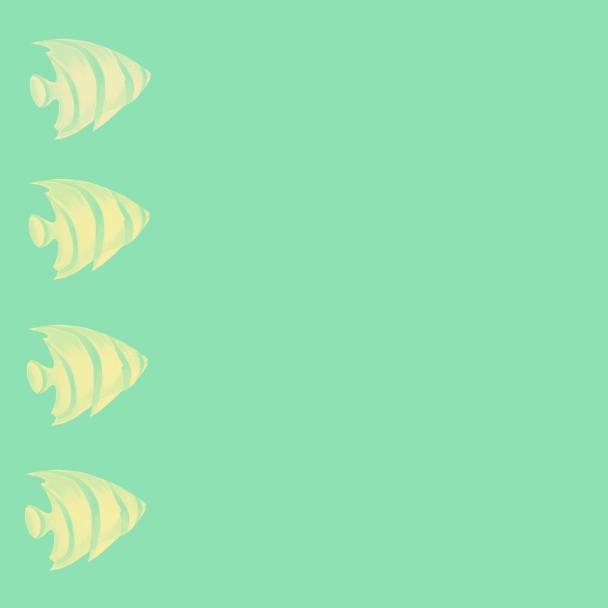 poissons jaunes-vert