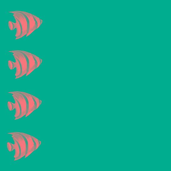 poissons rose-vert