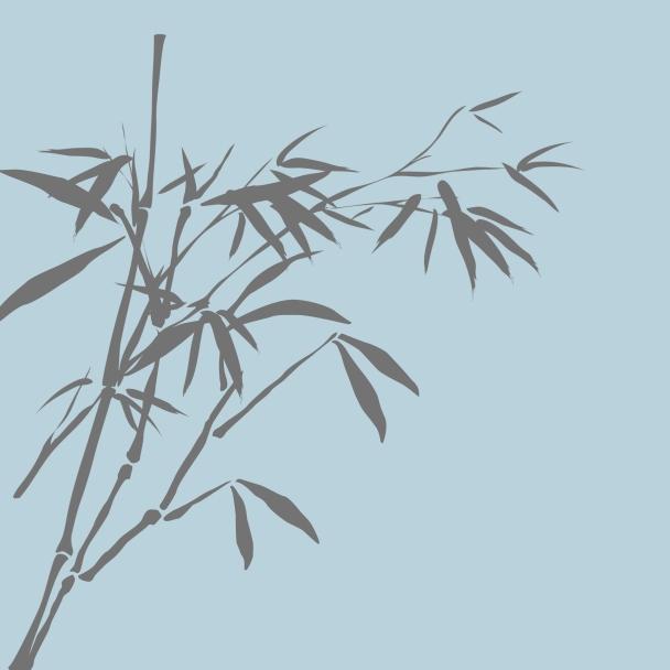 bambous bleu ciel brun