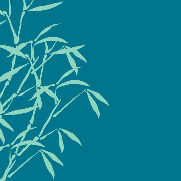 bambous bleu turquoise
