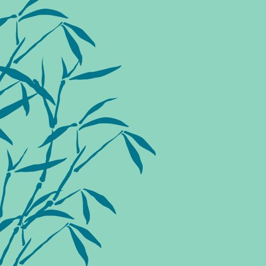 bambous turquoise bleu