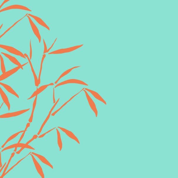 bambous turquoise orange