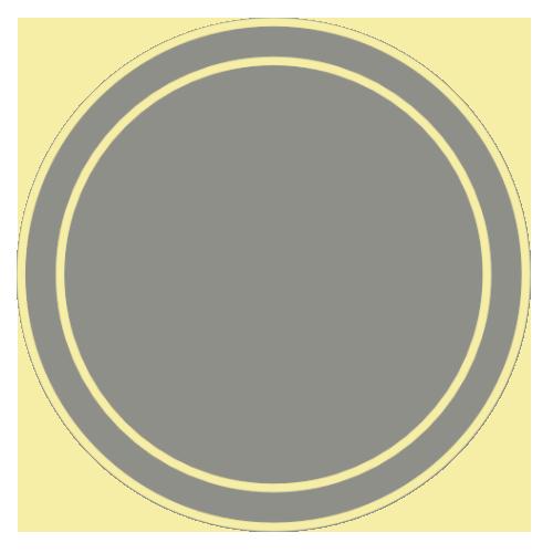 tag 2 ronds jaune brun