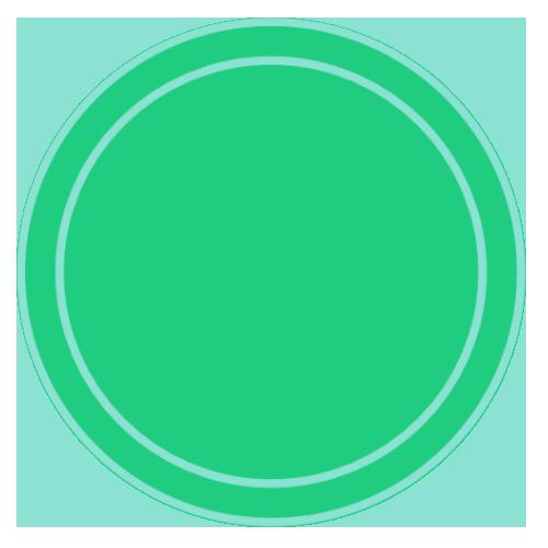 tag deux ronds vert