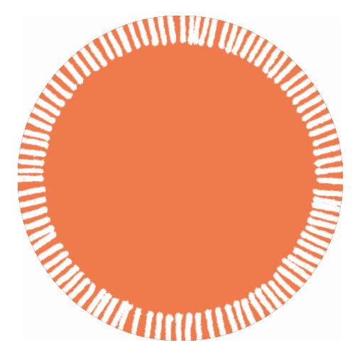 tag orange blanc