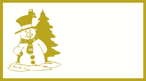 étiquette dorée bonhomme