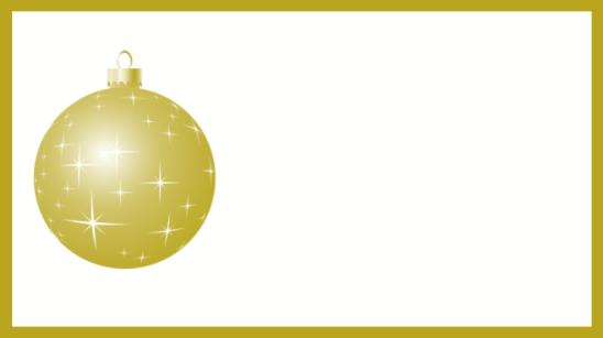 étiquette dorée boule