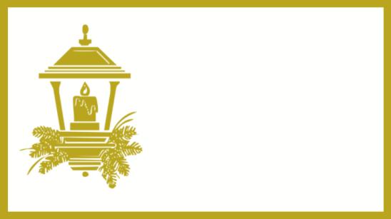 étiquette dorée lanterne