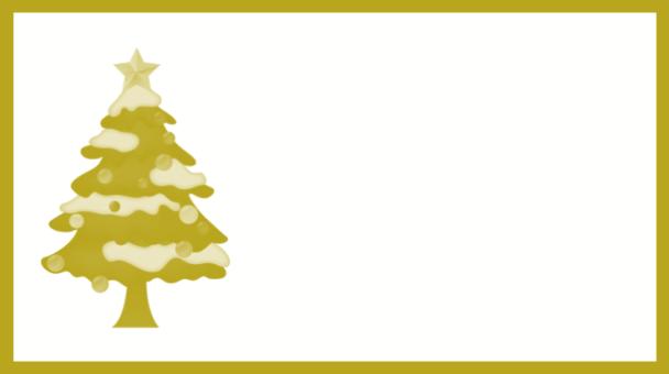 étiquette dorée sapin