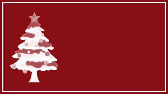 étiquette rouge sapin