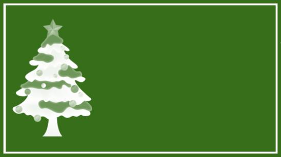 étiquette sapin vert blanc