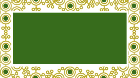 étiquette verte dorée arabesques