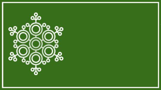 étiquette verte flocon