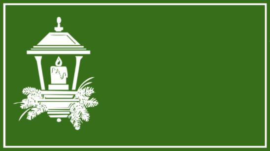 étiquette verte lanterne