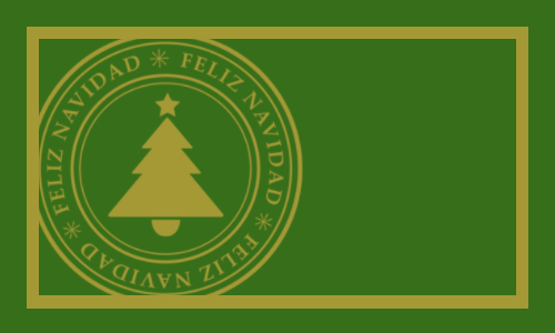 Feliz navidad vert or
