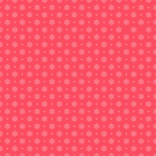 fleurettes rouge-rose