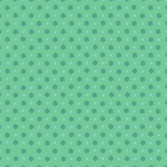 fleurs azur sur fond vert