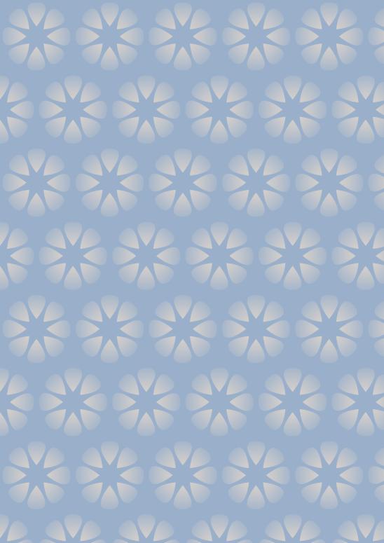 fleurs blanches sur fond bleu