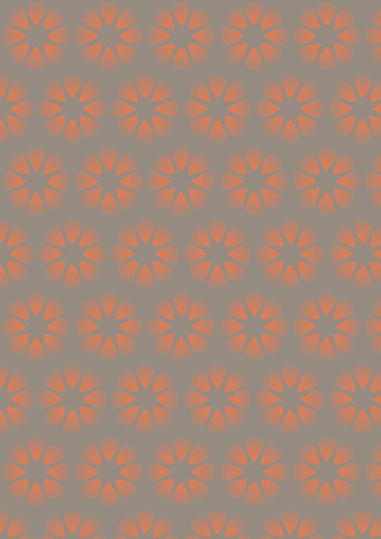 fleurs oranges sur fond brun