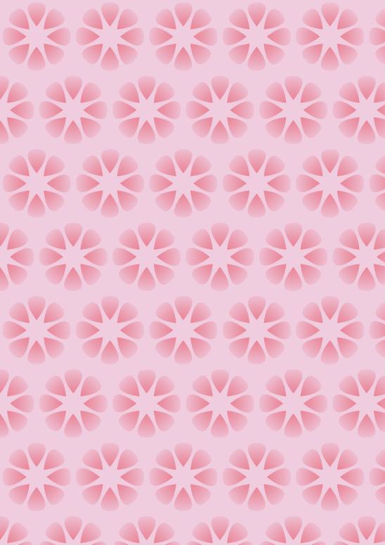 fleurs roses sur fond rose