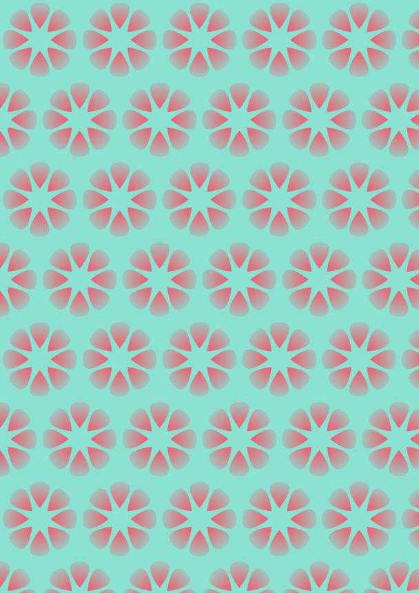 fleurs rouges sur fond azur