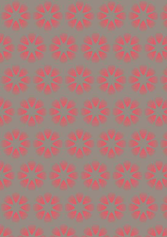 fleurs rouges sur fond brun