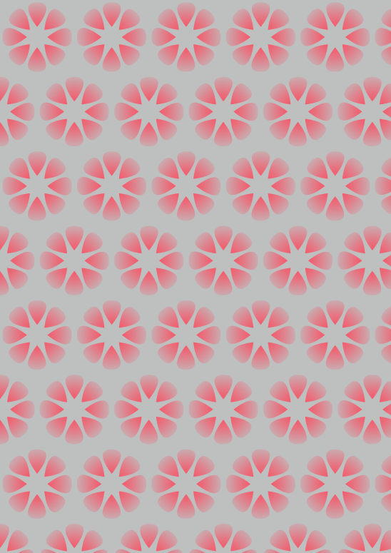 fleurs rouges sur fond gris