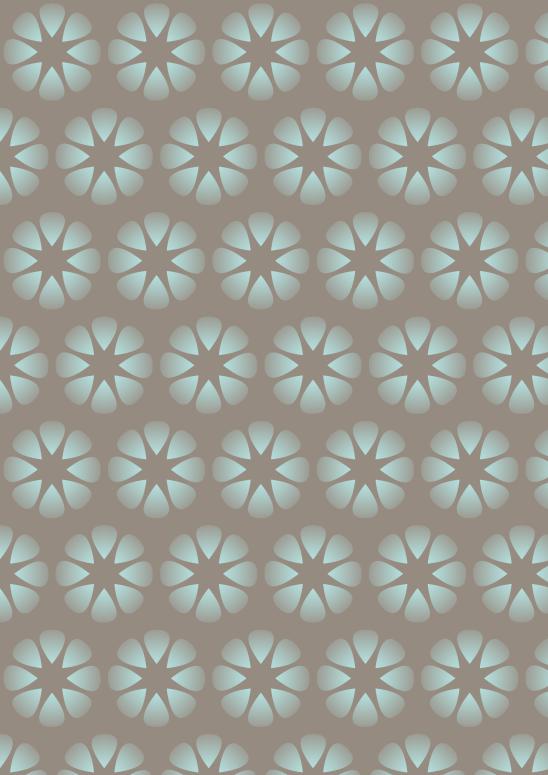 fleurs turquoises sur fond brun