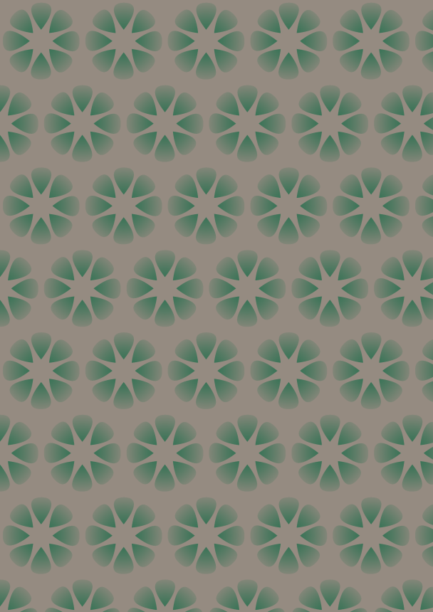 fleurs vertes f sur fond brun