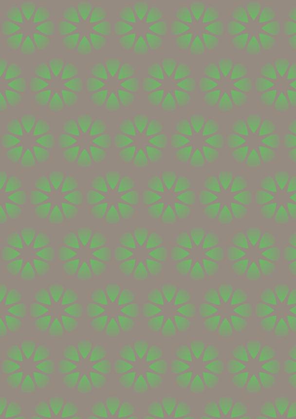 fleurs vertes sur fond brun