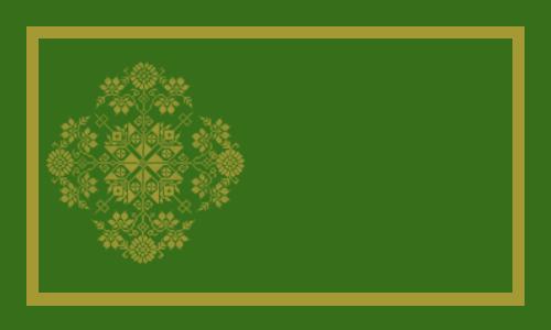 flocon or sur vert