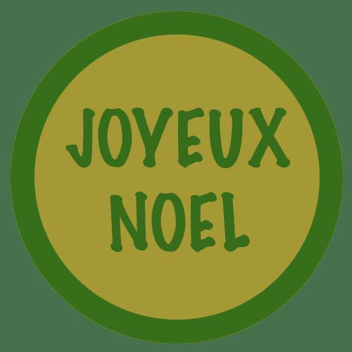 JOYEUX NOEL VERT OR