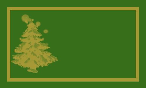 sapin or sur vert