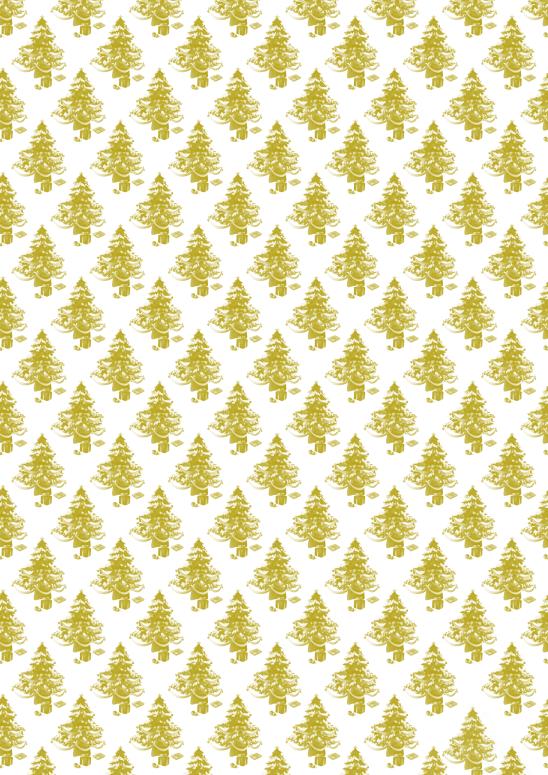 sapins dorés