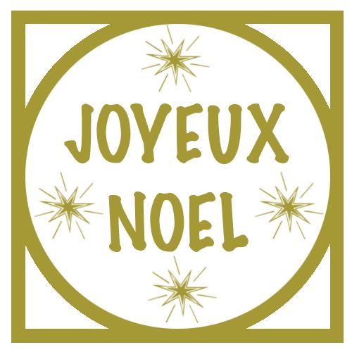 tag rond doré joyeux noel
