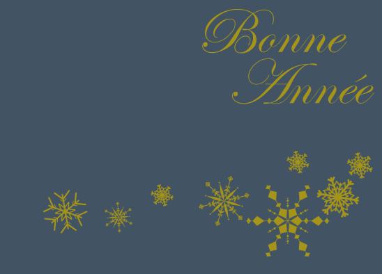 bonne année bleu or