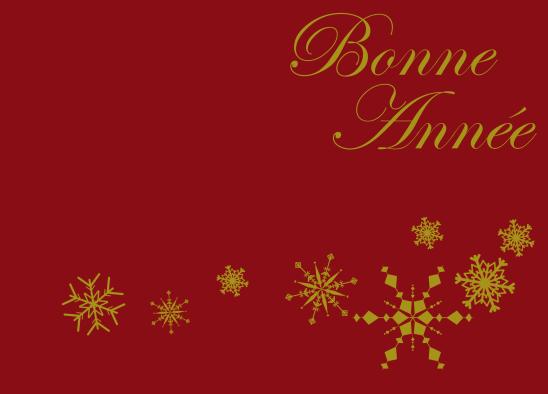 Bonne année bordeaux or