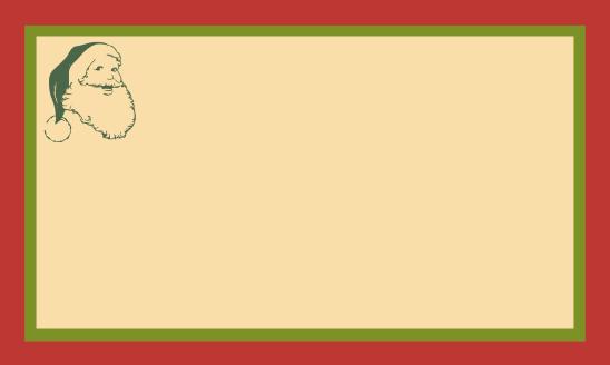 étiq rouge vert beige