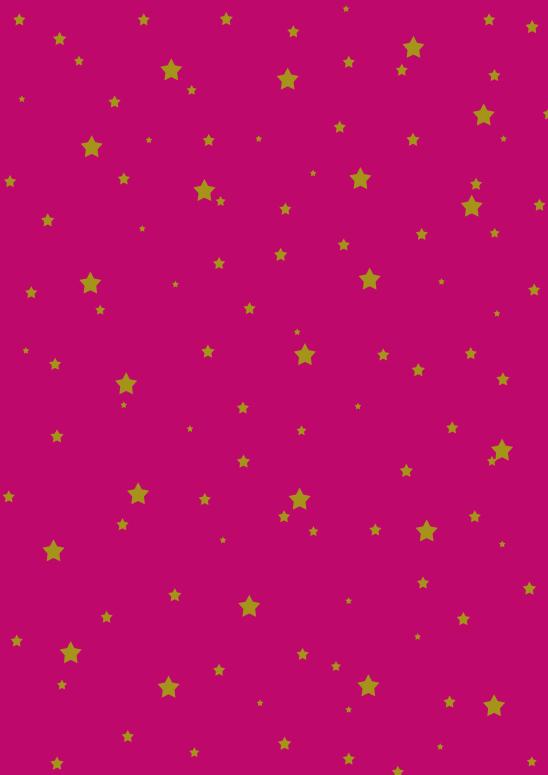 étoiles or sur fushia