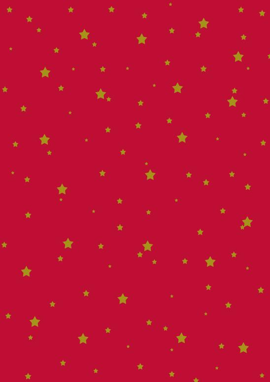 étoiles or sur rouge